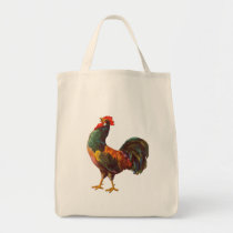 Rooster Vintage Kitchen Crate Art Tote Bag