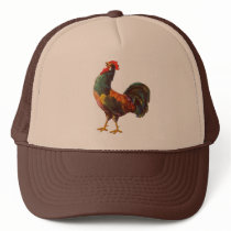 Rooster Vintage Kitchen Crate Art Trucker Hat