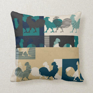 Rooster Vintage Pillow