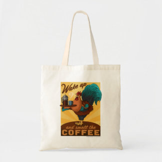 Rooster - Wake up and Smell the Coffee Tote Bag