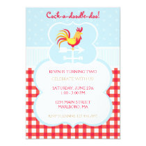 Rooster Weather Vane Birthday Invitation
