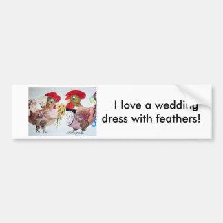 Rooster Wedding Bumper Sticker