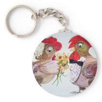 Rooster Wedding Keychain