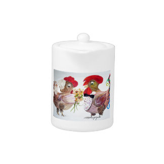 Rooster Wedding Teapot
