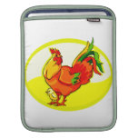 rooster with chick yellow oval.png iPad sleeves