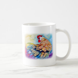 Rooster with Flair Classic White Coffee Mug