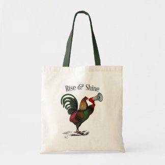 Rooster With Loudhailer 2 Tote Bag