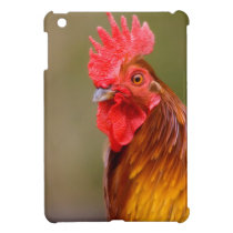Rooster with Red Comb Head iPad Mini Cover