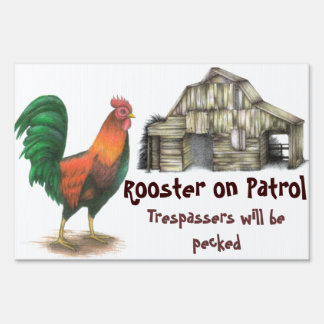 Rooster Yard Sign