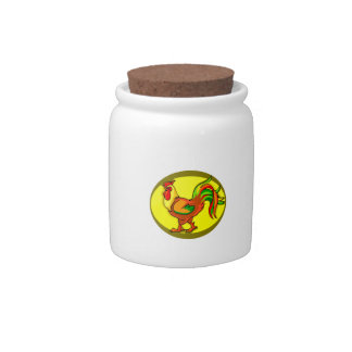 rooster yellow background chicken.png candy jar