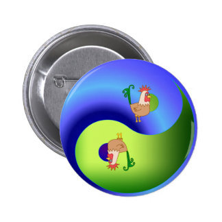 Rooster Yin Yang Buttons