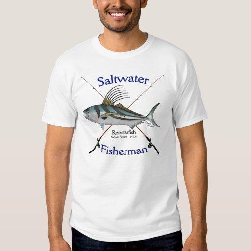 Roosterfish fishermans saltwater fishing tshirt zazzle for Custom saltwater fishing shirts