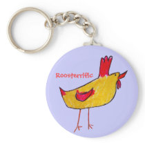 Roosterrific Keychain