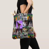 Roosters And Chickens In A Collage, Tote Bag