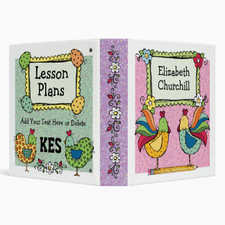 Roosters and Chicks 2 - SRF 3 Ring Binder