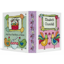 Roosters and Chicks - SRF 3 Ring Binder