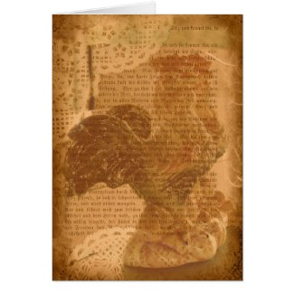 Roosters and Lace card