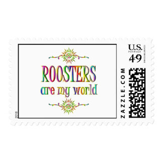 ROOSTERS are my world Postage Stamp