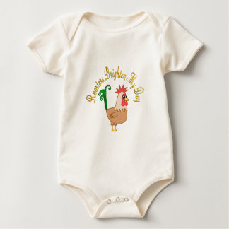 Roosters Brighten My Day Baby Bodysuits