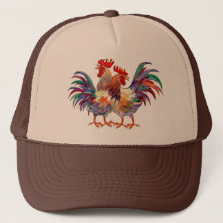 ROOSTERS By SHARON SHARPE Trucker Hat