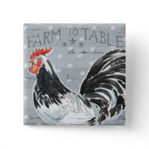 Roosters Call III Pinback Button