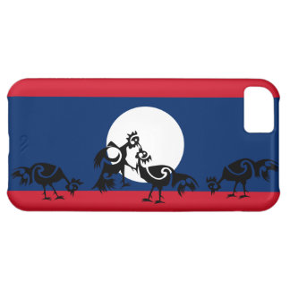 Roosters fighting / Laos flag Cover For iPhone 5C