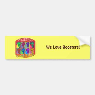 Roosters Gone Wild #3 Bumper Sticker