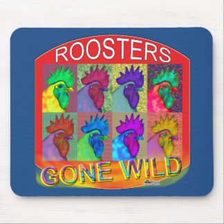 Roosters Gone Wild #3 Mouse Pad