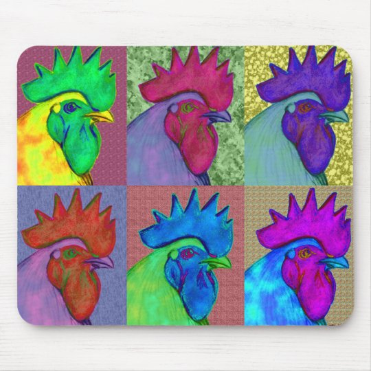 Roosters Gone Wild! Mouse Pad
