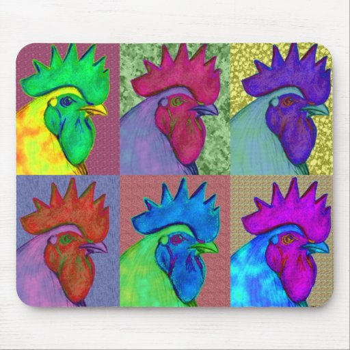 Roosters Gone Wild! Mousepads