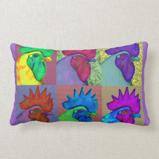 Roosters Gone Wild! Throw Pillow