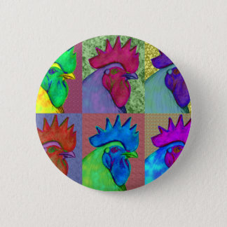 Roosters Gone Wild! Pinback Button