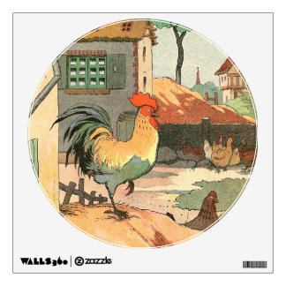 Roosters, Hens and Baby Chicks Wall Decal