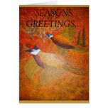 Roosters in the spotlight greeting card