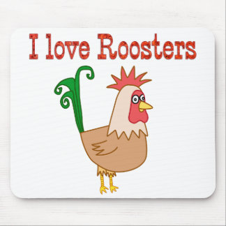 Roosters Mouse Mat