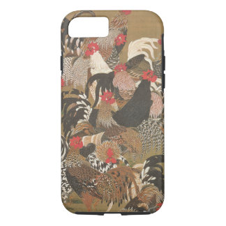 Roosters New Year 2017 Japanese Painting Iphone C iPhone 7 Case