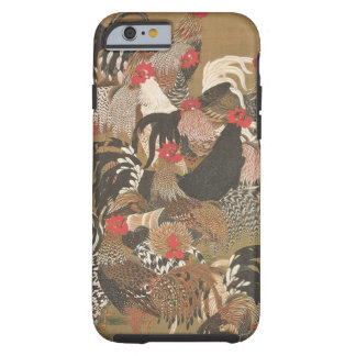 Roosters New Year 2017 Japanese Painting Iphone Tough iPhone 6 Case