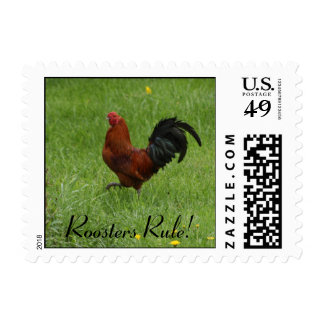 Roosters Rule! - postage stamps
