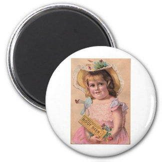 Root beer 2 inch round magnet