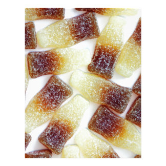 Root Beer Bottle Candy Print Letterhead