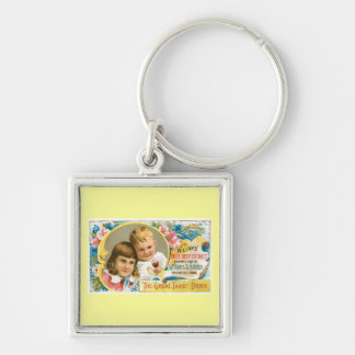 Root Beer Extract Vintage Drink Ad Art Keychain