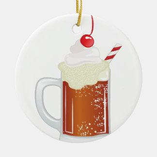 Root Beer Float Ceramic Ornament