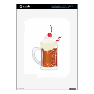 Root Beer Float Decal For iPad 3
