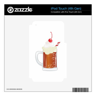 Root Beer Float Decals For iPod Touch 4G