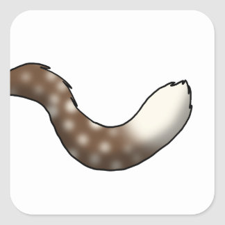 Root Beer Float Fluffy Hybrid Tail Square Sticker