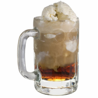 Root Beer Float Key Chain Photo Sculpture Keychain