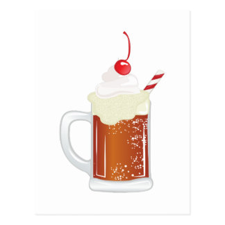 Root Beer Float Postcard