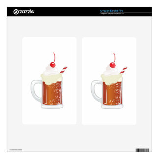 Root Beer Float Skins For Kindle Fire
