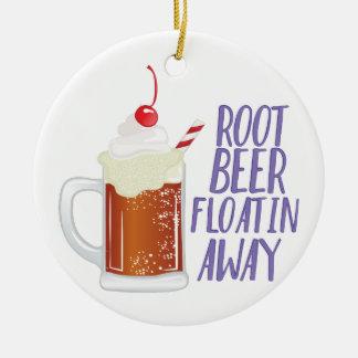 Root Beer Floatin Ceramic Ornament