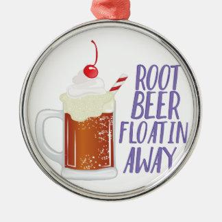 Root Beer Floatin Metal Ornament